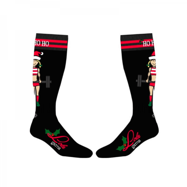 christmas knee high socks for women